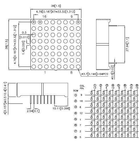 Matriz 8x8 LEDs